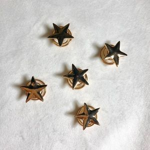 Gold Stars spiral hair pins (set of 5)